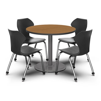 36 Inch Round Conference Table Dark Grey Conference Room Tables