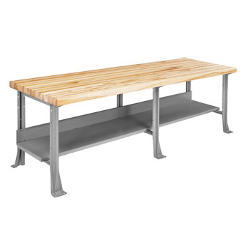 mlb-4316-heavy-duty-industrial-steel-bench-96-x-30-with-2-34-maple-top