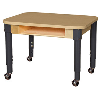 Wood Designs Mobile Laminate Desk With Adjustable Legs 24 X 18 Rectangle Hpl1824dska1 Xx Activity Tables For Children Worthington Direct