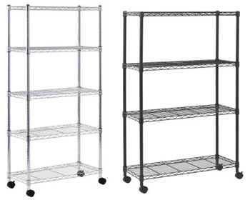 Wire Rack Storage Units   All Mobile Wire Shelving Units By Sandusky Lee Options Storage