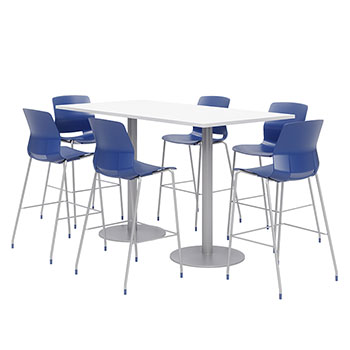 silver-base-bar-height-cafe-table-with-six-lola-stools-36-x-72-rectangle