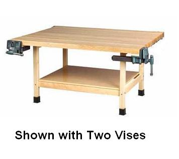 Amazing All Wooden Two Station Student Workbench Table By Forskolin Free Trial Chair Design Images Forskolin Free Trialorg