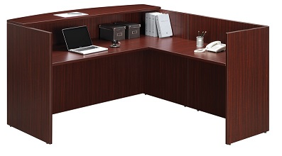 Ndi Office Furniture Pl26 Bow Front Reception Desk Shell W Return