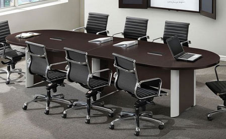Ndi Racetrack Conference Tables W Elliptical Base