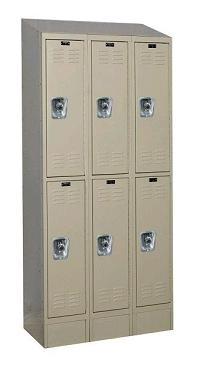 urb3288-2asb-readybuilt2-double-tier-3-wide-lockers-w-slope-top---locks--12-w-x-18-d-x-36-h