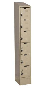urb1288-6asb-readybuilt2-six-tier-1-wide-lockers-w-slope-top---locks--12-w-x-18-d-x-12-h