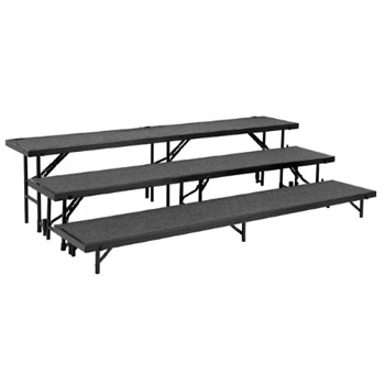National Public Seating 3 Level Tapered Choral Riser Carpet Surface Rt3lc Risers Worthington Direct