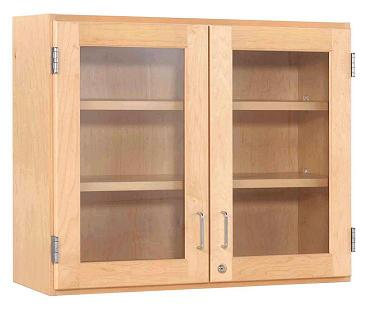 d06-3012m-maple-double-door-wall-cabinet-30-w-glass-doors