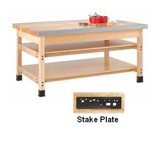 smb-840a-sheet-metal-bench-96-w-1-stake-plate