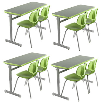 classroom-set-4-silhouette-double-desks-8-flavors-chairs-by-smith-system
