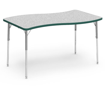 48sl3054-color-banded-activity-table-with-gray-nebula-top-30-x-54-slide