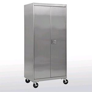 st4d482478-stainless-steel-mobile-storage-cabinet-w-paddle-lock-48-x-24-x-84