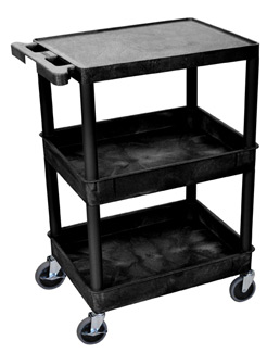 stc211-heavy-duty-utility-cart-w-2-tub-shelves-flat-top-shelf