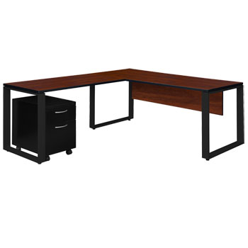 stlsmp723048-structure-l-desk-with-48-return-and-single-mobile-pedestal-72-w-x-30-d