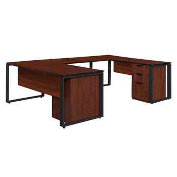 studlp723048-structure-double-laminate-u-desk-with-48-bridge-72-w-x-30-d