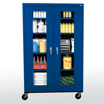 mobile-storage-cabinets-with-seethru-doors-by-sandusky-lee