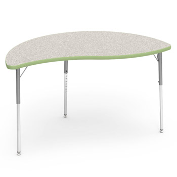 Virco Color Banded Activity Table With Gray Nebula Top 60