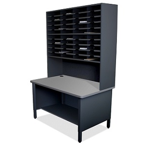 util0065-40-slot-mailroom-sorter-w-shelves
