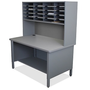 util0071-20-slot-mailroom-sorter-w-shelves