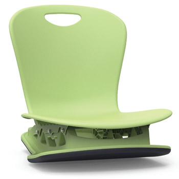 Virco Zuma Floor Rocker Chair 18 Quot Shell Zflrock18
