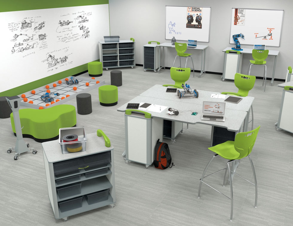 Makerspace STEM Classroom design from Mooreco