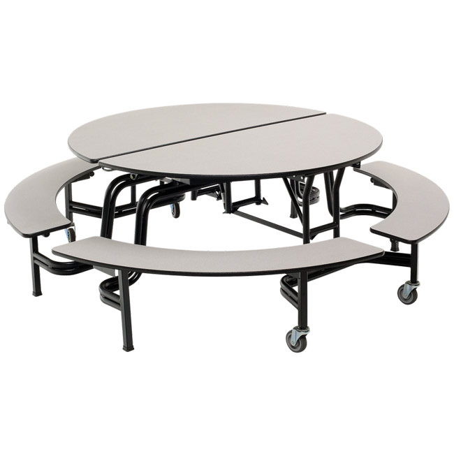 Fine Mobile Round Cafeteria Table With Benches Spiritservingveterans Wood Chair Design Ideas Spiritservingveteransorg