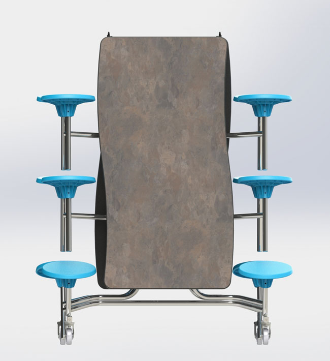 National Public Seating Mobile Stool Cafeteria Table