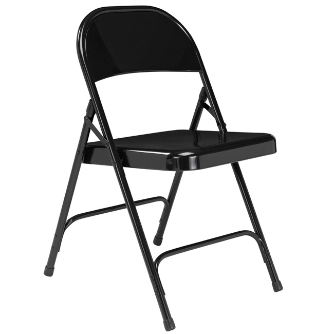 510-black-single-hinge-19-gauge-steel-round-back-folding-chair