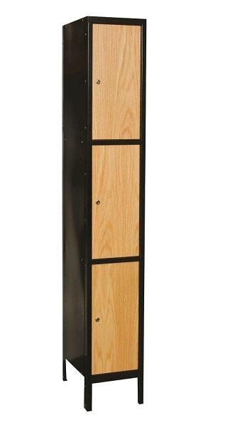 uw1288-3a-mew-metal-wood-hybrid-triple-tier-1-wide-locker-assembled-12-w-x-18-d-x-24-h