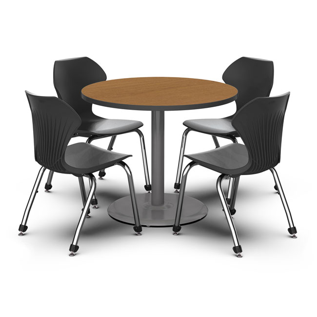 Marco Group Round Cafe Table W 4 Apex Stack Chair Package Set C08 Xxx29 Cafe Tables Worthington Direct