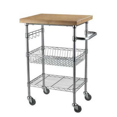 Wire Carts | Sandusky Lee Bamboo Top Mobile Wire Cart Mktbb242036 Storage
