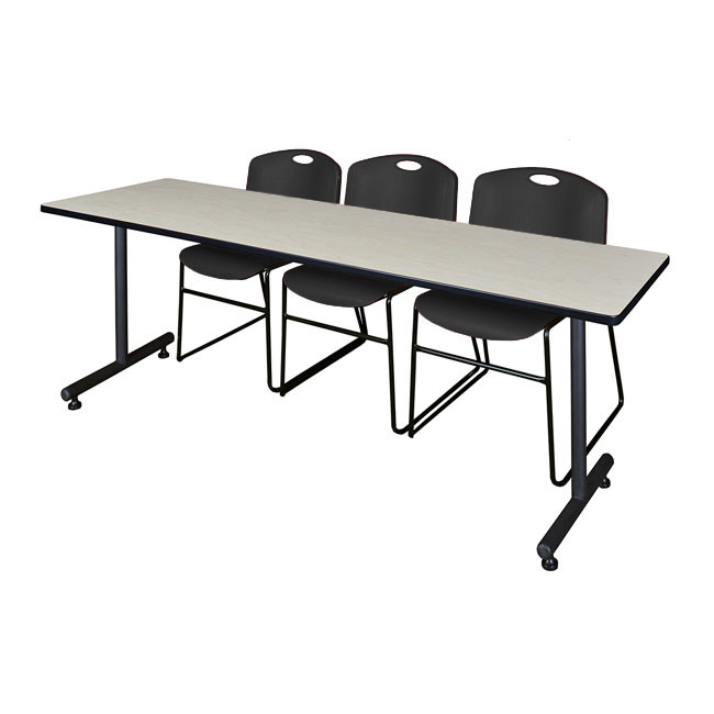 mktrct8424xx44zz-kobe-training-table-and-3-zeng-stack-chairs-84-x-24