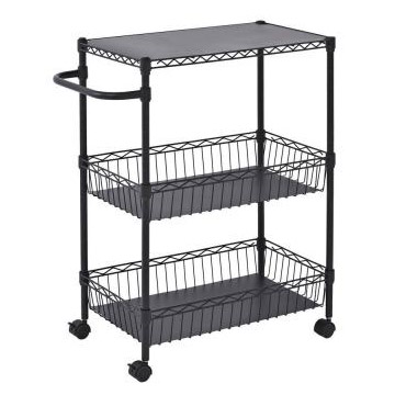 Mobile Wire Basket Push Cart