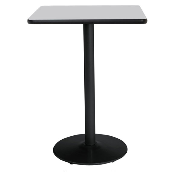 """Coffee Height Square Small Table Base Round: Kfi Seating Bar Height Mode Cafe Table (42"""" Square"""