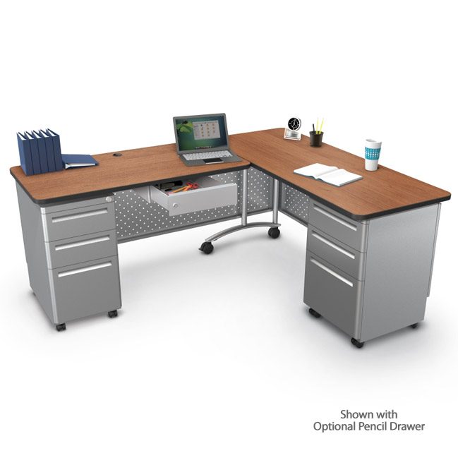 super popular 5a70e d682f Mooreco L-Shaped Desk Set - 90454 | Teacher Desks ...