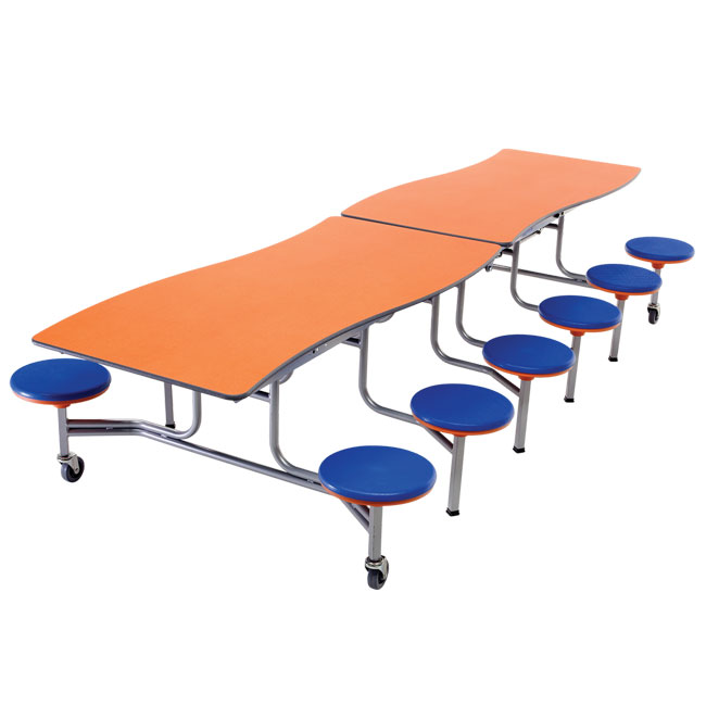mswt1012-wave-top-mobile-stool-cafeteria-table-12-stools-10-l