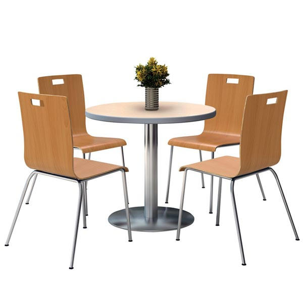 Kfi Seating T36rd Xx 9222 Xx Silver Base Cafe Table With