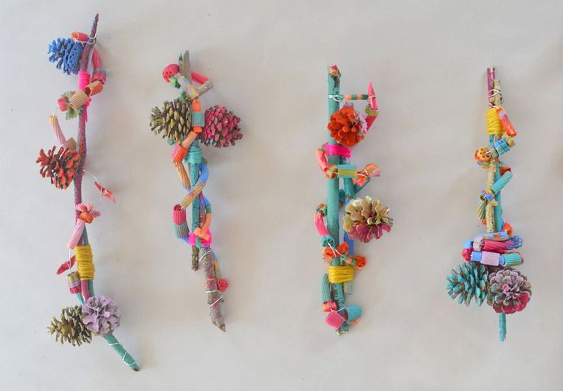 Nature Art Assemblage with Kids by Art Bar Blog