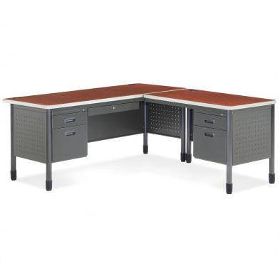 low priced 22d35 41a8b L Shape Mesa Desk w/ Right Return
