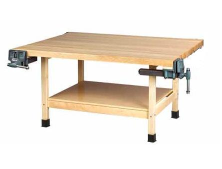 wooden-two-station-student-workbench-table-by-shain