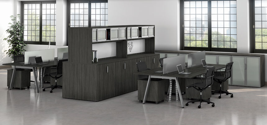 Variant Office Suite with Storage Divider