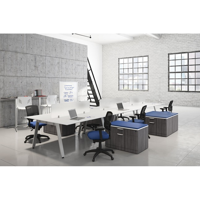 6 Station Office Desk Suite