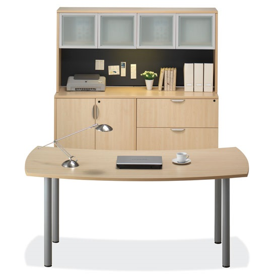 Superb Os Laminate Crescent Desk With Hutch Storage Download Free Architecture Designs Scobabritishbridgeorg