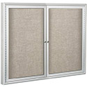 Outdoor Enclosed Bulletin Board w/ Silver Frame by Best-Rite