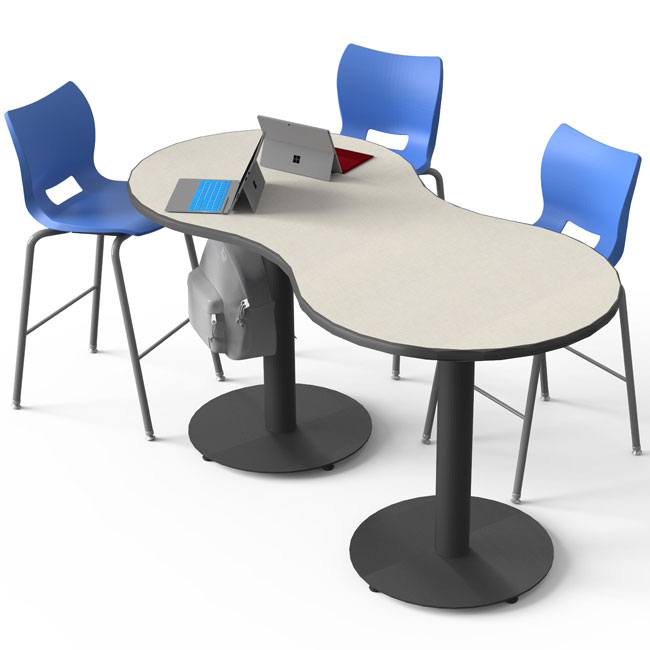 peanut-cafe-meeting-tables-w-circular-bases-by-smith-system