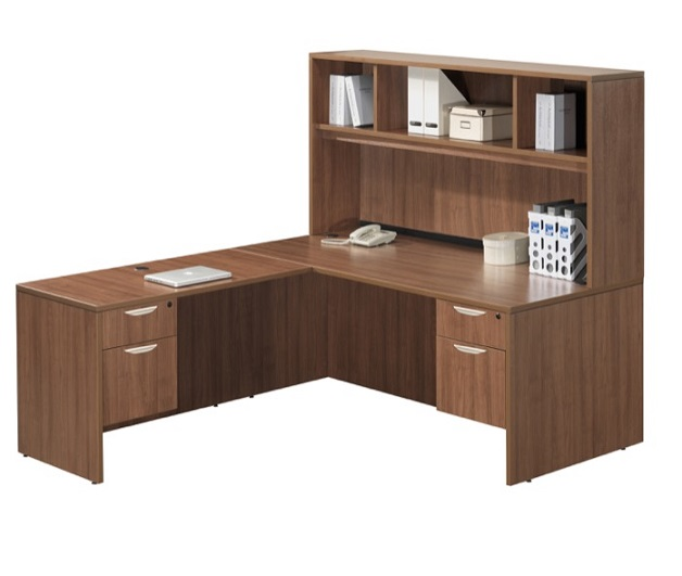 Brilliant Classic Series L Shaped Desk W Hutch Home Interior And Landscaping Ologienasavecom