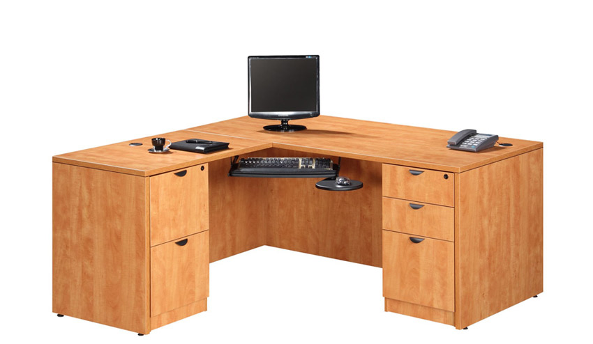 Ndi Office Furniture Executive L-Shaped Desk - Pl14 | L-Shaped Desks