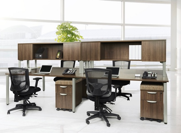 Ndi Office Furniture Elements Four Person Workstation Suite Plt17