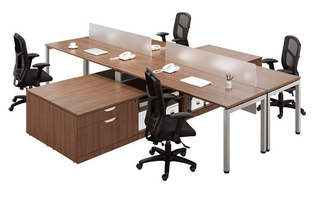 4 Person Office Suite Desk Station