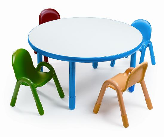 Angeles Baseline Preschool Table Chair Set 36 Round Ab74920